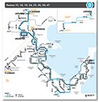 Wyong to The Entrance Route Map Thumbnail